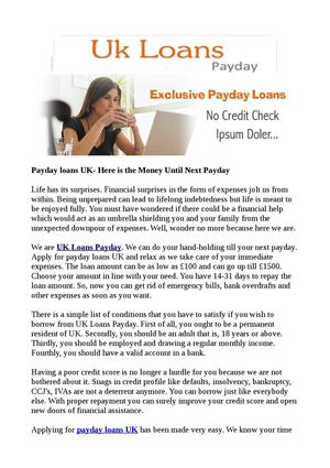cash advance lending products hardly any credit check needed