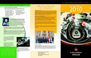 2010 Annual Report St John Ambulance Alberta