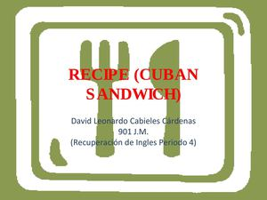 recipe(cuban sandwich)