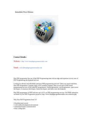 Hire PHP programmer for Best PHP Programming Solutions at Affordable Cost.