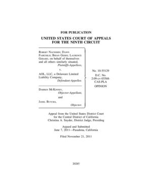 United States Court of Appeals, Ninth Circuit Decision in NACHSHIN / FAIRCHILD v. AOL