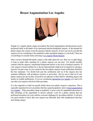 breast augmentation Los Angeles