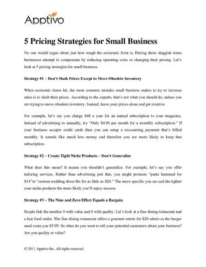 5 Pricing Strategies for Small Business
