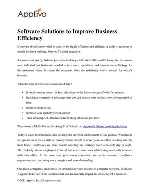 Software Solutions to Improve Business Efficiency