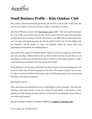 Small Business Profile