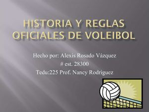 Reglas de Volleyball