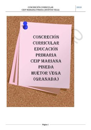 CONCRECIÓN CURRICULAR