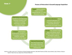 7 Process of Interaction in Second Language Acquisition