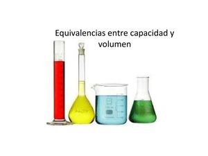 Equivalencias capacidad y volumen