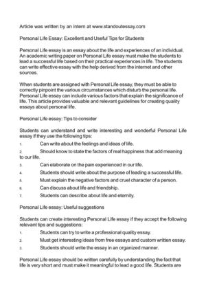 How To Write A Good English Essay Personal Life Essay Excellent And Useful Tips For Students Essays About Science also Essays About English Language Calamo  Personal Life Essay Excellent And Useful Tips For Students Apa Sample Essay Paper