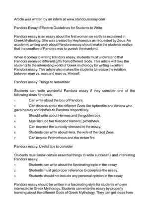 Argumentative Essay Examples High School Pandora Essay Effective Guidelines For Students To Write Research Papers Examples Essays also Science Argumentative Essay Topics Calamo  Pandora Essay Effective Guidelines For Students To Write Where Is A Thesis Statement In An Essay