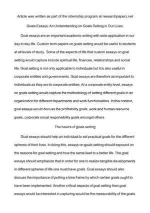 Persuasive Essay Topics For High School Students Goals Essays An Understanding On Goals Setting In Our Lives Essay On High School also Thesis Statement For Persuasive Essay Calamo  Goals Essays An Understanding On Goals Setting In Our Lives Learn English Essay