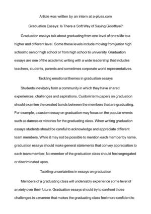 Thesis Statement For Argumentative Essay Graduation Essays Is There A Soft Way Of Saying Goodbye Proposal Essay Sample also Thesis Statement In An Essay Calamo  Graduation Essays Is There A Soft Way Of Saying Goodbye Friendship Essay In English