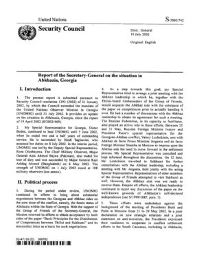 Report of the SG, 10 July 2002