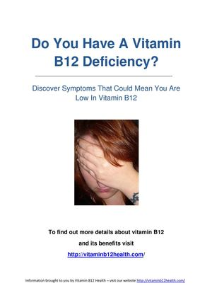 Do You Have A Vitamin B12 Deficiency?