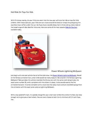 Hot Ride On Toys For Kids