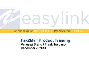 Lesson 2 - Fax2Mail Feature Training 120710_0