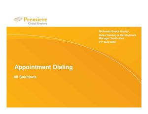 Appointment dialing - All solutions