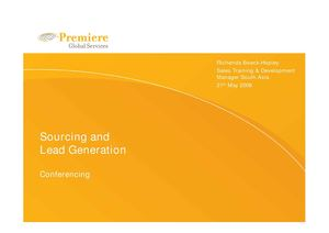 Sourcing & Lead Generation  Conferencing ppt
