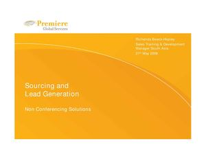 Sourcing & Lead Generation  Data Comms ppt