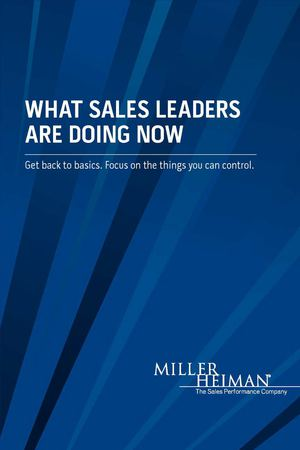 What Sales Leaders are Doing Now