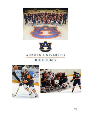Press Kit Created for Client which was the Auburn Men's Ice Hockey Team
