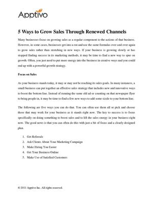 5 Ways to Grow Sales Through Renewed Channels