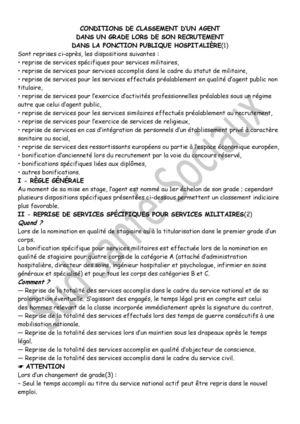 Calameo Conditions De Classement D Un Agent Dans Un Grade Lors De