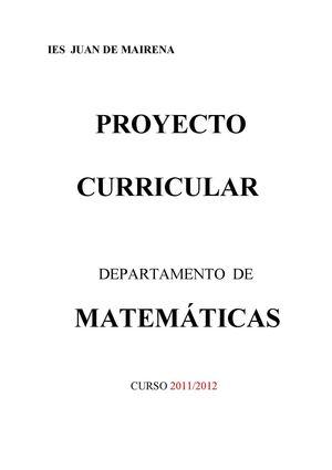 Calaméo - Programaciones de matematicas
