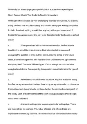 Essay Paper Writing Services Short Essays Useful Tips Students Need To Understand Essay Format Example For High School also 1984 Essay Thesis Calamo  Short Essays Useful Tips Students Need To Understand Persuasive Essay Examples For High School