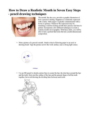 Calameo How To Draw A Realistic Mouth In Seven Easy Steps