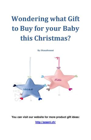 Wondering what Gift to Buy for your Baby this Christmas?