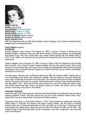 Calameo Coco Chanel Bio