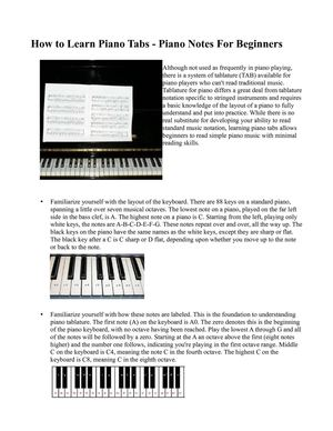 Piano piano tabs notes : Calaméo - How to Learn Piano Tabs - Piano Notes for Beginners