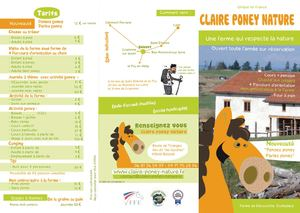 Brochure Claire Poney Nature