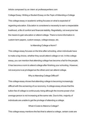 college tuition essay