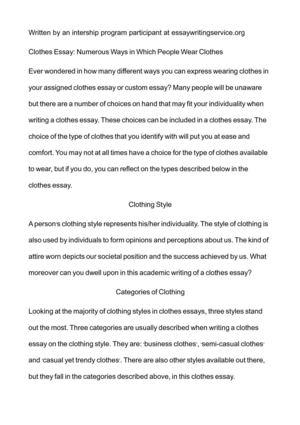 individuality essay