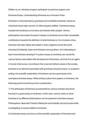 calamo   kindness essay understanding kindness as a humane virtue kindness essay understanding kindness as a humane virtue