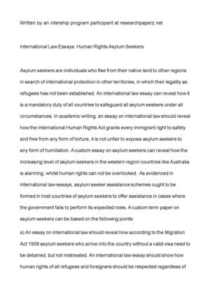 Short English Essays International Law Essays Human Rights Asylum Seekers Argument Essay Paper Outline also English Essay Outline Format Calamo  International Law Essays Human Rights Asylum Seekers Businessman Essay