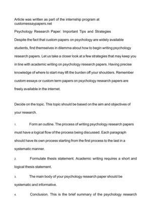 research paper strategies