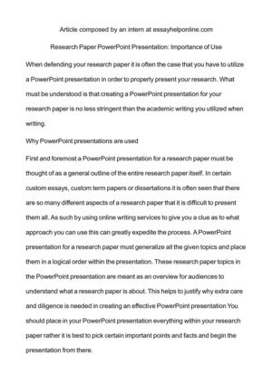 how to present a research paper ppt