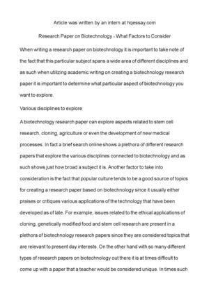 Biotechnology essay topics cheap case study ghostwriting for hire gb