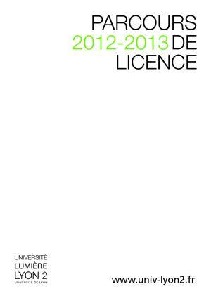 Calameo Universite Lumiere Lyon 2 Catalogue Licences 2012 2013