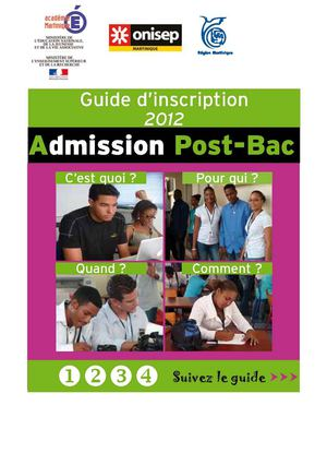 Guide d'information admission Post-bac