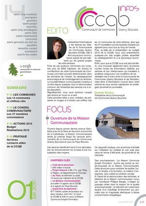 Journal d'information CCQB n°1