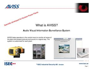 AVISS video management software for nuclear power plants