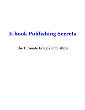 Ebook Publishing Secrets