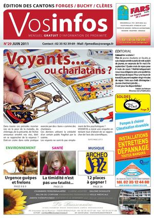 Journal Vosinfos n°29 - Edition Forges/Buchy/Clères - Juin 2011