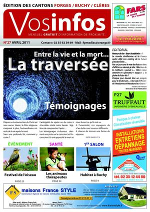 Journal Vosinfos n°27 - Edition Forges/Buchy/Clères - Avril 2011
