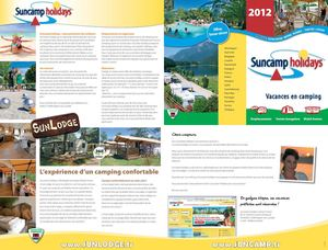 Vacances camping Suncamp Holidays-Brochure 2012